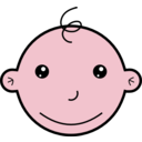 download Smiling Baby clipart image with 315 hue color