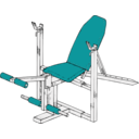 download Exercise Bench clipart image with 135 hue color