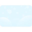 download Soft Blue Snowflakes clipart image with 315 hue color