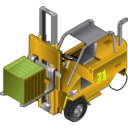 download Forklift Truck clipart image with 45 hue color