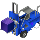 download Forklift Truck clipart image with 225 hue color