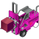 download Forklift Truck clipart image with 315 hue color