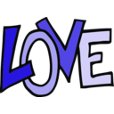 download Love Text clipart image with 270 hue color