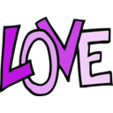 download Love Text clipart image with 315 hue color