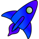 download Rocket Picture clipart image with 225 hue color