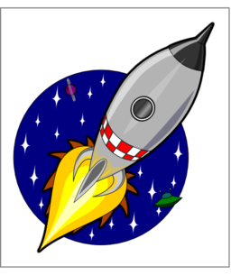 Cartoon Rocket Clipart - Royalty Free Public Domain Clipart
