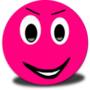 Evil Smiley Pink Emoticon