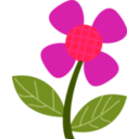 download Red Flower clipart image with 315 hue color