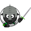 download Knight Sheep clipart image with 45 hue color