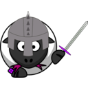 download Knight Sheep clipart image with 225 hue color
