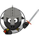 download Knight Sheep clipart image with 315 hue color