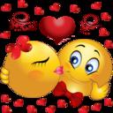 Loving Couple Smiley Emoticon