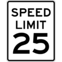 download Speed Limit 25 clipart image with 45 hue color