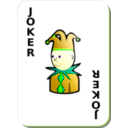 download White Deck Black Joker clipart image with 45 hue color