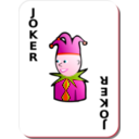 download White Deck Black Joker clipart image with 315 hue color