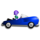 download Blonde Female Driver clipart image with 225 hue color