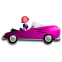 download Blonde Female Driver clipart image with 315 hue color