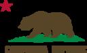 Flag Of California Bear Star Plot Title Solid