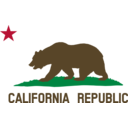 Flag Of California Bear Star Plot Title Solid