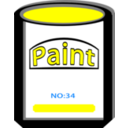 Paint Can Yellow No34