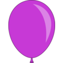 download Balloon clipart image with 225 hue color