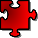Red Jigsaw Piece 10