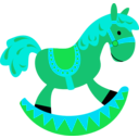 download Toy Horse clipart image with 135 hue color