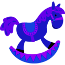 download Toy Horse clipart image with 225 hue color