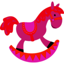 download Toy Horse clipart image with 315 hue color