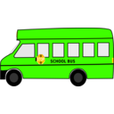 download School Bus clipart image with 45 hue color