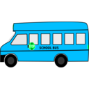 download School Bus clipart image with 135 hue color