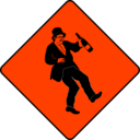download Caution Drunkard clipart image with 315 hue color