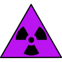 download Nuclear Warning Sign clipart image with 225 hue color