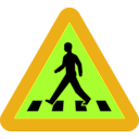 download Pedestrian Crossing Sign clipart image with 45 hue color