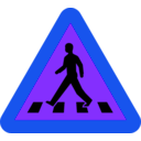 download Pedestrian Crossing Sign clipart image with 225 hue color