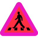download Pedestrian Crossing Sign clipart image with 315 hue color