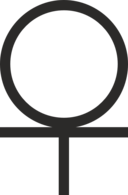Ankh Cross 3 4 Below Circle