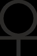 Ankh Cross 3 4 Below Circle