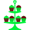download Jubilee Cake Stand Red clipart image with 135 hue color