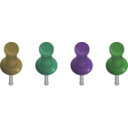 download Pushpins clipart image with 45 hue color