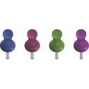 download Pushpins clipart image with 225 hue color