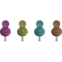 download Pushpins clipart image with 315 hue color