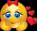 In Love Girl Smiley Emoticon