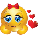 In Love Girl Smiley Emoticon