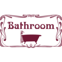 download Bathroom Door Sign clipart image with 135 hue color