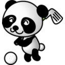 download Golf Panda clipart image with 225 hue color
