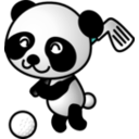 download Golf Panda clipart image with 315 hue color