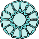 download Rosette 2 clipart image with 135 hue color