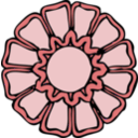 download Rosette 2 clipart image with 315 hue color