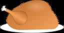 Turkey On Platter 01